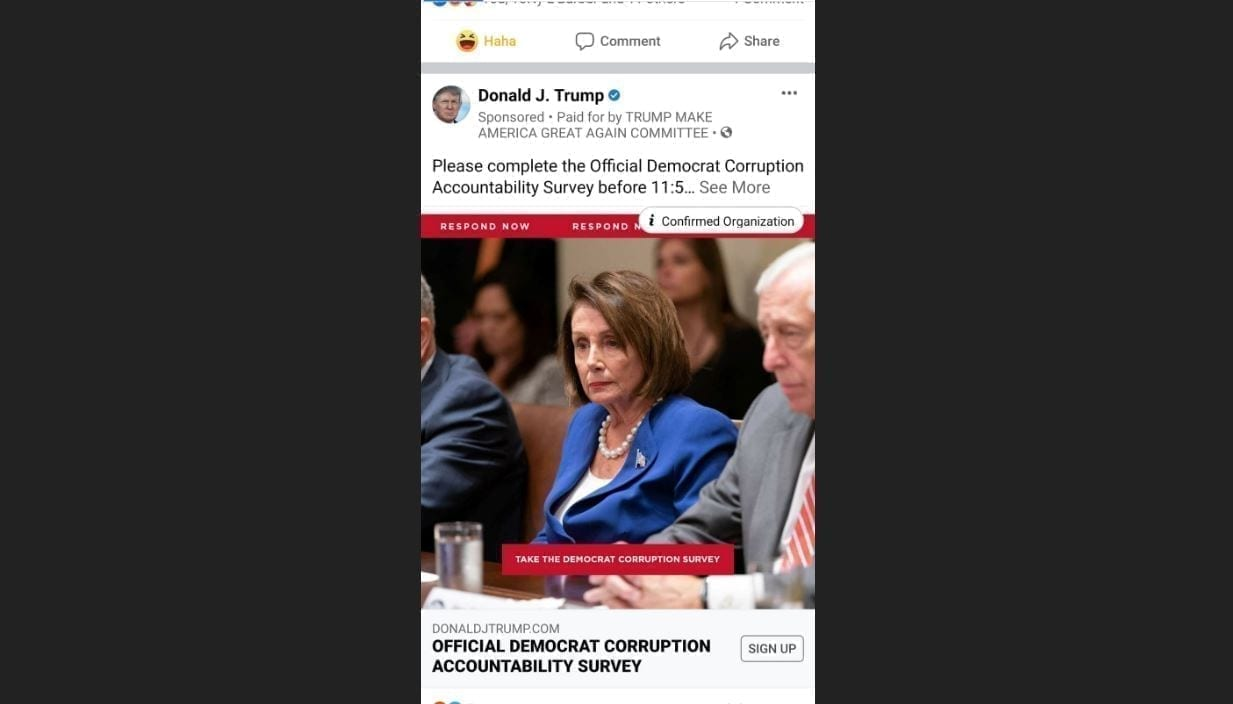 Official Democrat Corruption Accountability Survey Ads