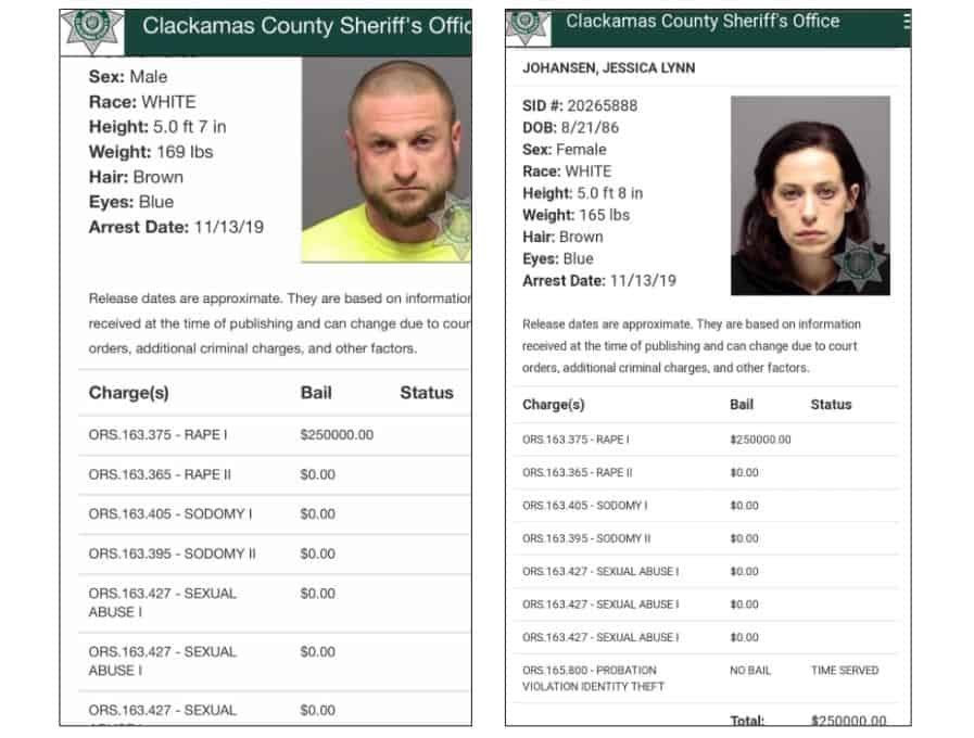 David Profit and Jessica Johansen Rape Minor